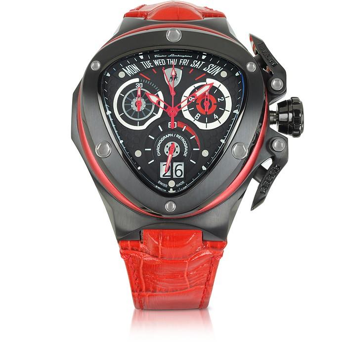 spyder - montre chrono rouge tonino lamborghini sur forzieri