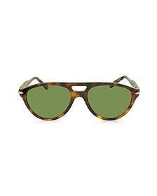 TL 516-02 Havana Acetate and Wood Aviator Sunglasses