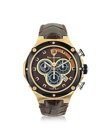 Metropolitan Chrono Stainless Steel Men's Watch w/ Croco Embossed Leather Men's Watch