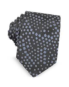 Галстук из Текстурного Шелка с Геометрическим Узором - Lanvin