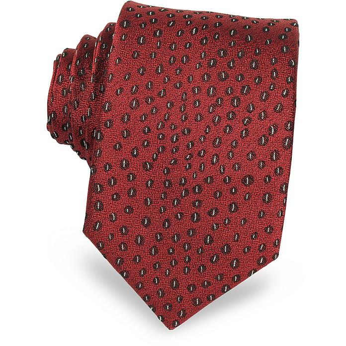 Abstract Woven Twill Silk Narrow Tie - Lanvin