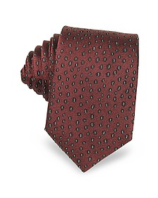 Abstract Woven Twill Silk Narrow Tie - Lanvin
