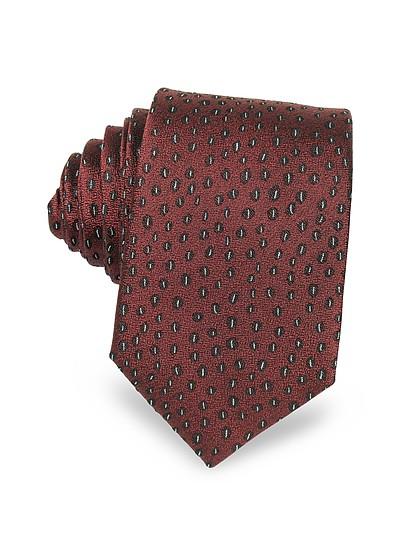 Abstract Krawatte aus gewobener Twillseide - Lanvin