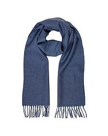 Solid Wool Fringed Men's Scarf - Lanvin