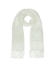 Solid Silk Fringed Men's Long Scarf - Lanvin