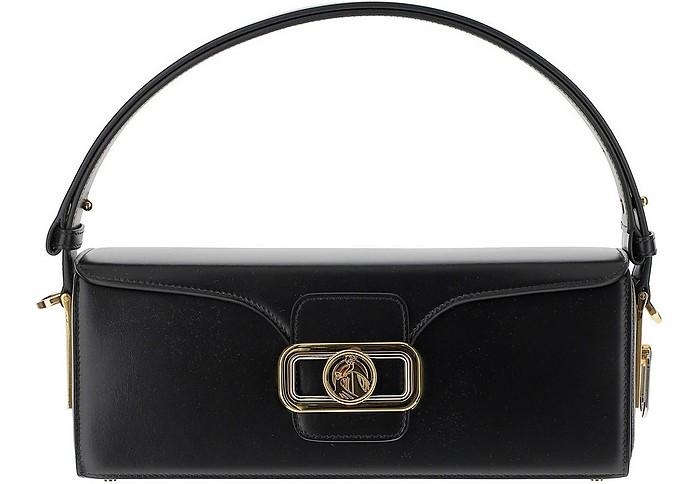 Black Leather Shoulder Bag - Lanvin