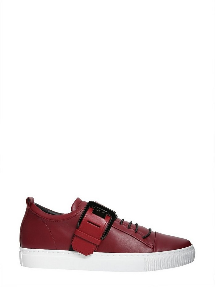 Low-Top Square Buckle Sneakers - Lanvin