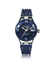 Montecristo Stainless Steel and Titanium Women's Watch w/Silicone Strap - Locman
