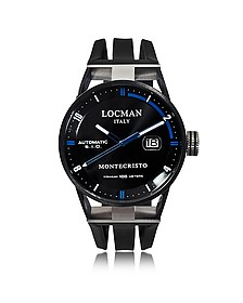 Montecristo Black PVD Stainless Steel & Titanium Automatic Men's Watch - Locman