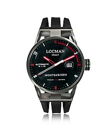 Montecristo Stainless Steel & Titanium Automatic Men's Watch w/Silicone Strap - Locman