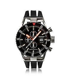 Montecristo Black PVD Stainless Steel & Titanium Chronograph Men's Watch - Locman