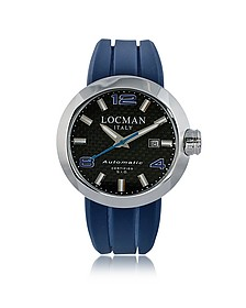 Change Stainless Steel Round Case Automatic Men's Watch w/ Silicone & Leather Straps - Locman