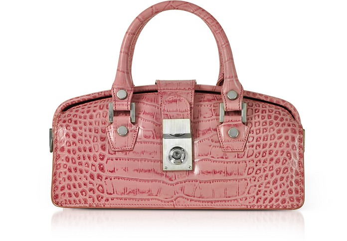 Croco-embossed Mini Doctor Style Bag - L.A.P.A.