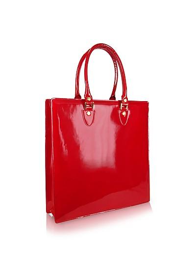 Handtasche aus rubinrotem Lackleder - L.A.P.A.