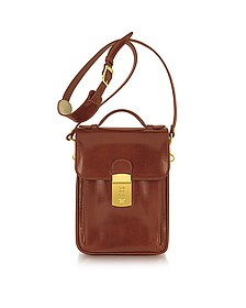 Cognac Leather Vertical Briefcase - L.A.P.A.