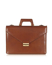 Double Gusset Leather Briefcase - L.A.P.A.
