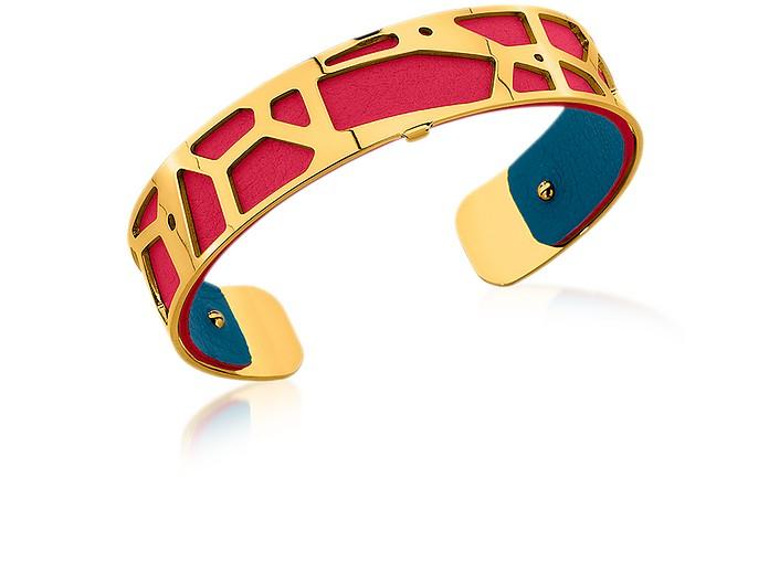 bracelet georgette cuir rouge