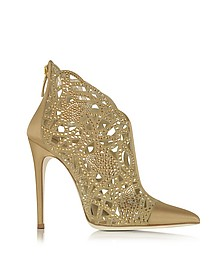 Golden Satin and Jewel Bootie - Loriblu