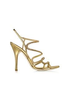 Golden Jeweled Sandal