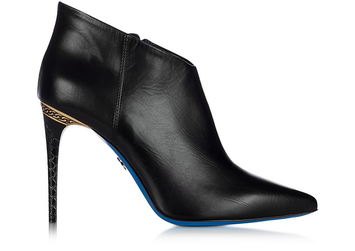 LORIBLU Designer Shoes, Leather Pointed Ankle Boot