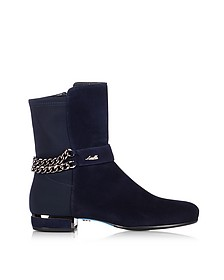 Night Blue Suede Bootie - Loriblu