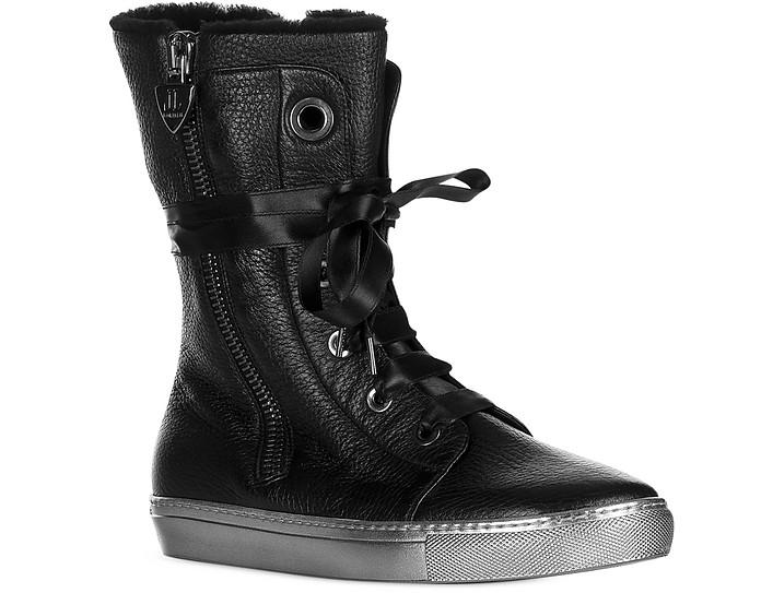 Sneaker in Pelle Nera e Eco Pelliccia Loriblu 36 (36 EU) 7sgwW