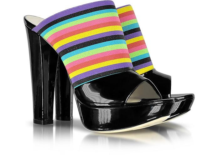Rainbow Elasticized Slide Shoe - Loriblu