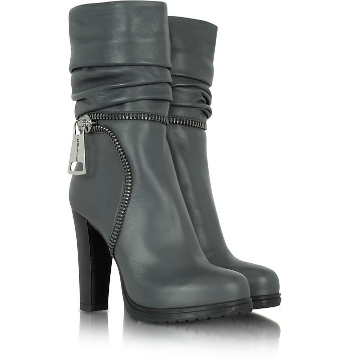 Gray Nappa Leather Boot - Loriblu