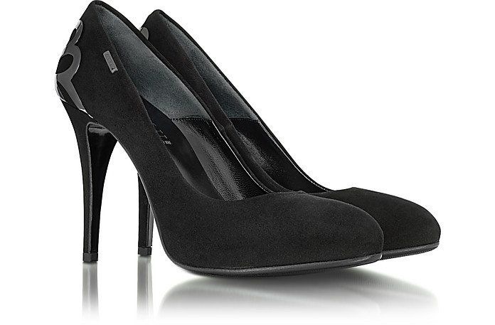 Black Suede and Metal Pump - Loriblu
