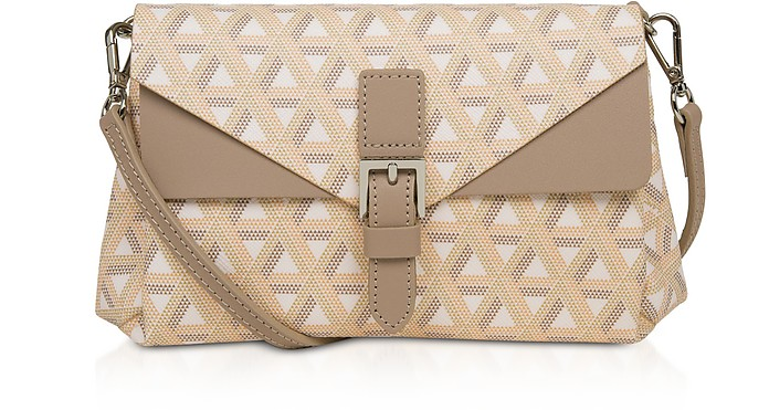 Ikon Small Coated Canvas Crossbody  Bag - Lancaster Paris