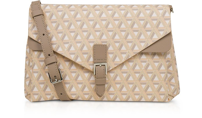 Ikon Coated Canvas Flap Crossbody  Bag - Lancaster Paris