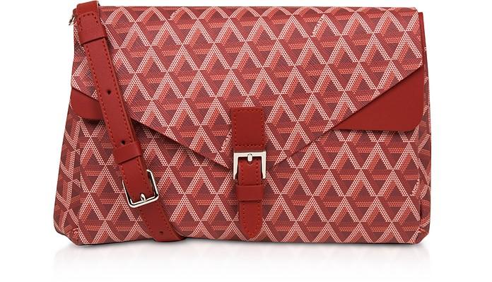 Ikon Coated Canvas Flap Crossbody  Bag - Lancaster Paris