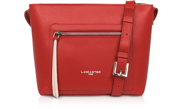 Foulonne Double Leather Crossbody Bag - Lancaster Paris