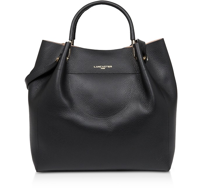 Foulonne Double Leather Large Tote Bag - Lancaster Paris