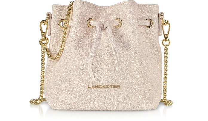 Actual Shiny Mini Bucket Bag - Lancaster Paris