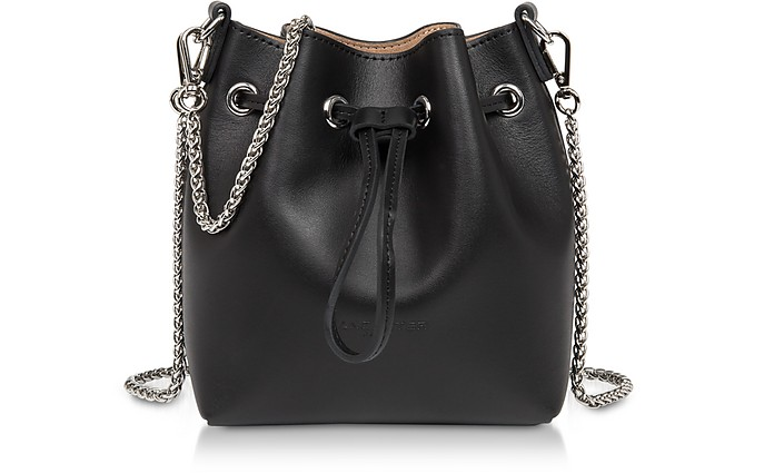 Treasure and Annae Leather Mini Bucket Bag - Lancaster Paris