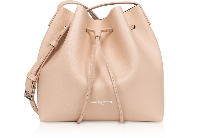 Pur Saffiano Small Bucket Bag - Lancaster Paris
