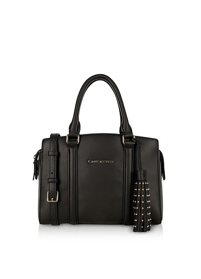 Ana Black Leather Small Tote Bag - Lancaster Paris