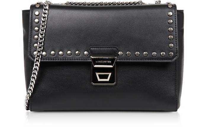 Gena Rock Studs Leather Crossbody Bag - Lancaster Paris
