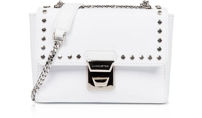 Gena Rock Studs White Crossbody Bag - Lancaster Paris