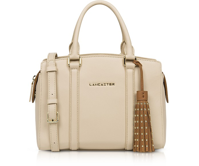 Ana & Annae Beige/Terracotta Satchel Bag - Lancaster Paris