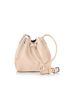 Pur Smooth Nude Leather Mini Bucket Bag - Lancaster Paris