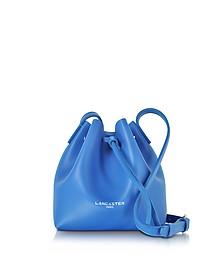Pur Smooth Blue Leather Mini Bucket Bag - Lancaster Paris