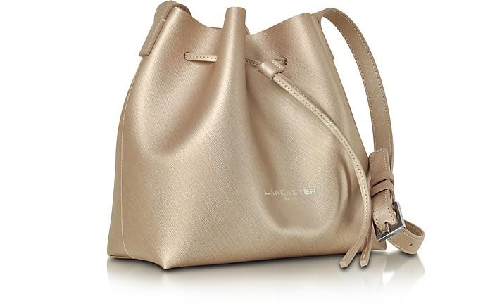 Lancaster Handbags, Pur & Element Rose Saffiano Leather Mini Bucket Bag