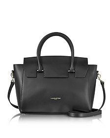 Camelia Leather Tote Bag w/Detachable Shoulder Strap - Lancaster Paris