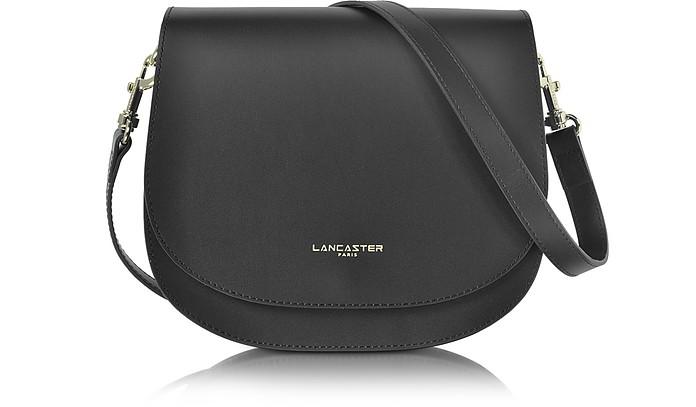 077e5bcd5e0d Lancaster Paris Black Camelia Leather Crossbody Bag at FORZIERI