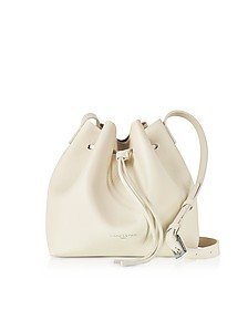 Beige Grainy Leather Bucket Bag - Lancaster Paris