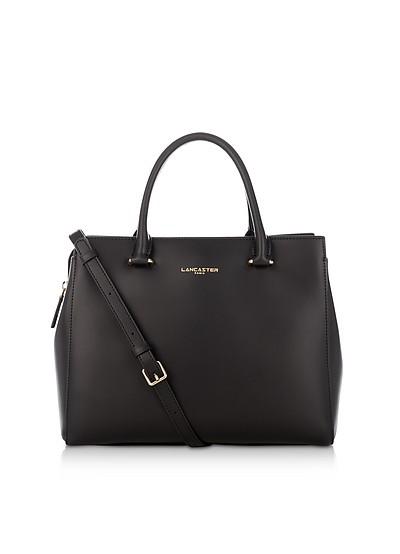 Camelia Smooth Leather Top Handle Satchel Bag - Lancaster Paris