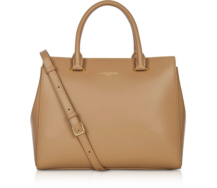 Camelia Smooth Leather Top Handle Satchel Bag - Lancaster Paris