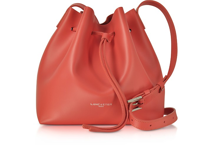 Pur Smooth Leather Bucket Bag - Lancaster Paris